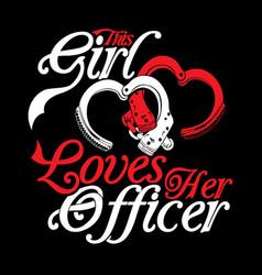 Love officer vector