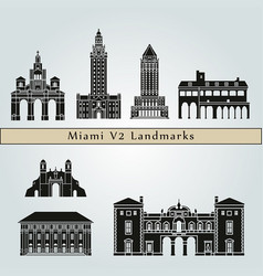 Manzanillo landmarks vector