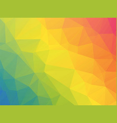 Modern rainbow colored triangular background vector