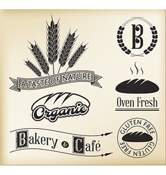 Organic bakery labels vector image vector image