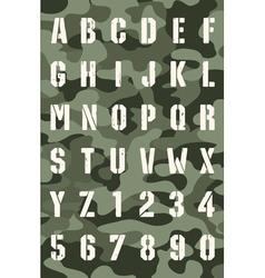 Original stencil font vector