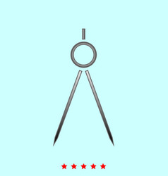 Pair of compasses it is icon vector