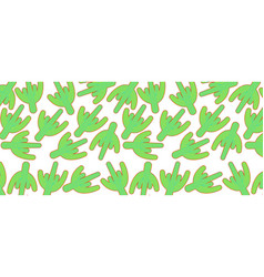 pattern with green cactus vector image