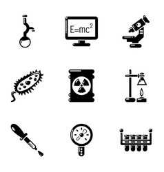 Physical study icons set simple style vector