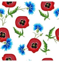 poppiescornflowers vector image