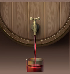 pouring red wine vector image
