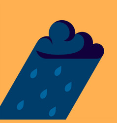 raining icon in flat style simple vector image