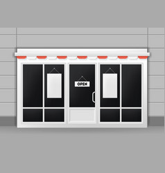 Realistic detailed 3d exterior of restaurant cafe vector