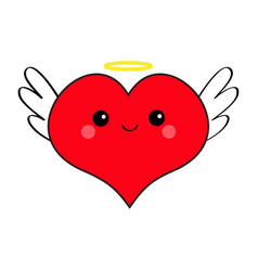 Red heart face head icon set devil angel evil vector