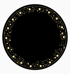 Round ornament rich golden magic frame made vector