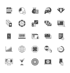 Set Icons Online Gaming vector