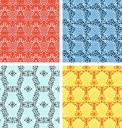 Set of knitting patterns vector image