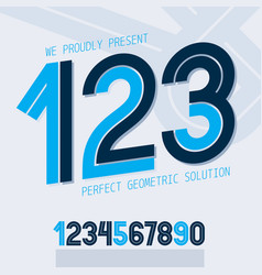 set of numbers made with white lines can be used vector image