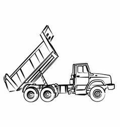 Sketch of the dump truck vector