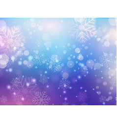 snowflake abstract background vector image