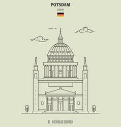 st nicholas church in potsdam vector image