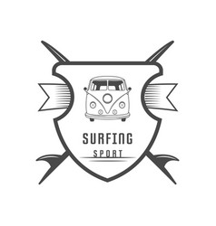 surfing sport logotype vector image