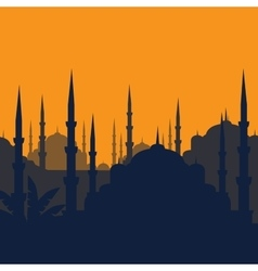 The Blue Mosque Sultanahmet Camii Istanbul vector image