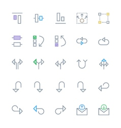 User Interface Colored Line Icons 22 vector image