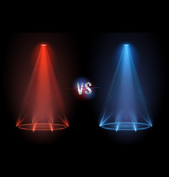 versus flooring battle projector shining pedestal vector image