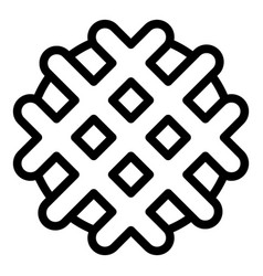 Waffle biscuit icon outline style vector