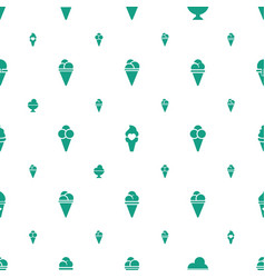 Waffle icons pattern seamless white background vector