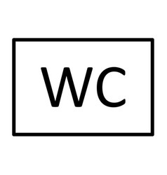 wc toilet line icon simple minimal pictogram vector image