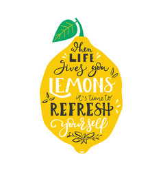 When life gives you lemons it is time to refresh vector