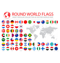 World flags collection 36 high quality clean vector
