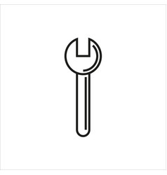 Wrench icon on white background vector