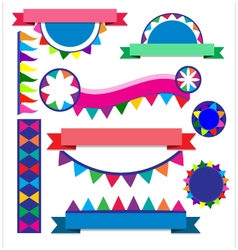 Banner colorful for party vector image vector image