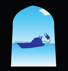 boat color vector image