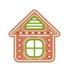 Gingerbread house cookies vector
