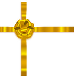 yellow isolated realistic bow vector image