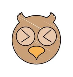 cute owl drawing animal vector image