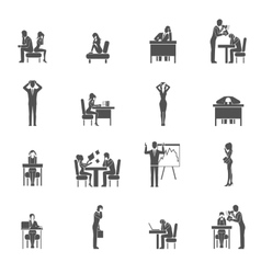 Depression icon set vector