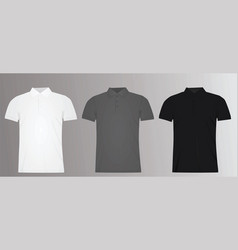 man polo t shirt template vector image