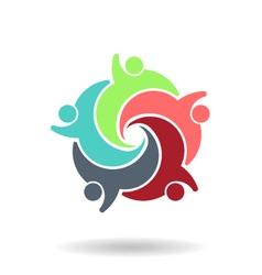 Teamwork Social 5 Logo vector image vector image