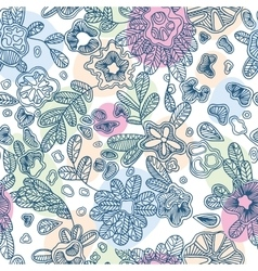 Textile seamless abstract pattern with hand-drawn vector image vector image