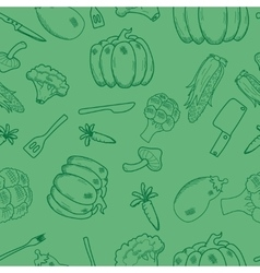 Assorted vegetables seamless pattern vector image