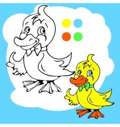 Coloring Book or Page Cartoon of vector image