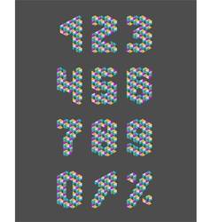 Triangle pattern numbers set vector image vector image
