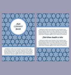 brouchure with blue geometric pattern vector image