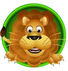 cute lion head cartoon vector image