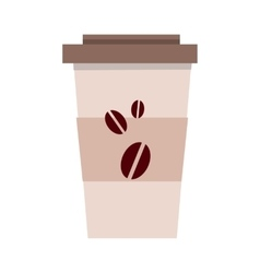 Disposable plastic coffee cup template isolated vector