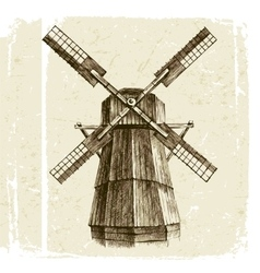 Hand drawn mill vector image