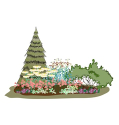 picturesque island of flowers vector image vector image