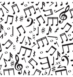Seamless pattern with a music notes vector image