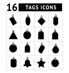 Set of tags icons vector image