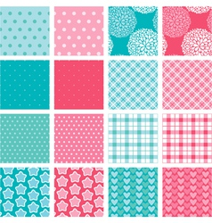 simple seamless set 380 vector image vector image